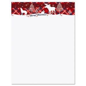 Winter Cabin Letter Papers