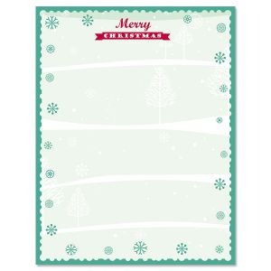 Merry Christmas with Snowflakes Letter Papers