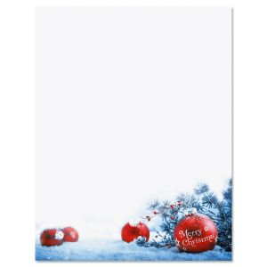 Snowy Ornaments Letter Papers