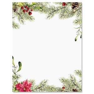 Pine Berries Letter Papers