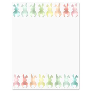 Gingham Bunnies Letter Papers