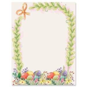 Basket Border Letter Papers