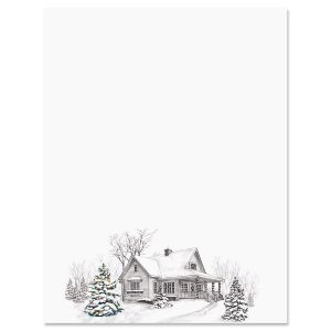 Winter Home Letter Papers