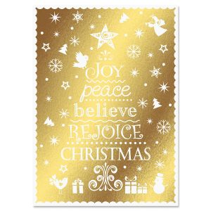 Rejoice Tree Christmas Cards - Nonpersonalized