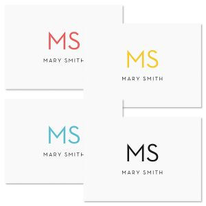 Minimalist Monogram Note Cards