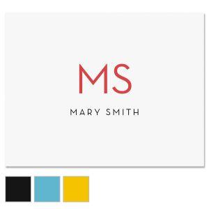 Minimalist Monogram Note Cards