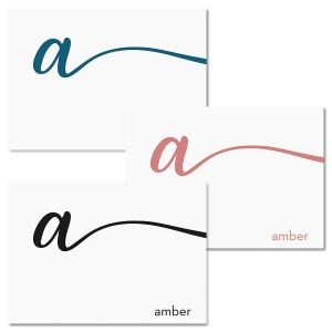 Cursive Initial Note Cards