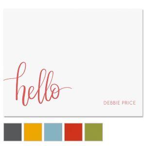 Handwritten Hello Note Card