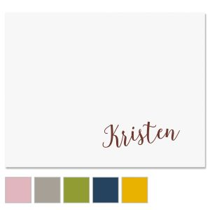 Sweeping Name Note Cards