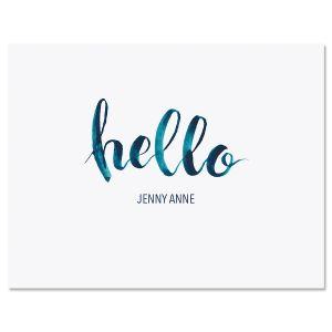 Watercolor Hello Note Cards