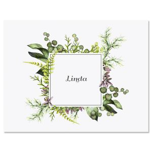 Botanical Watercolor Wreath Note Cards