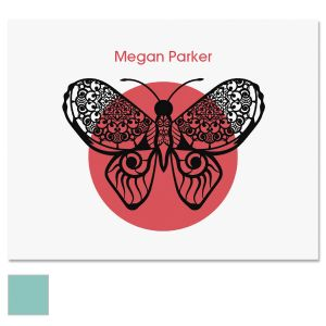 Print Butterfly Note Cards