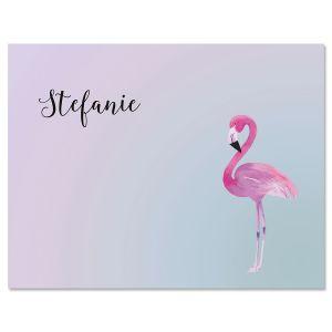 Single Flamingo Note Cards