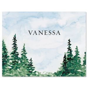 Watercolor Forest Note Cards