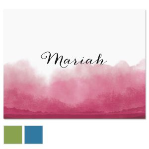 Dipped Watercolor Note Cards