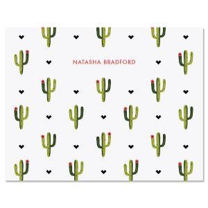 Saguaro Pattern Note Cards