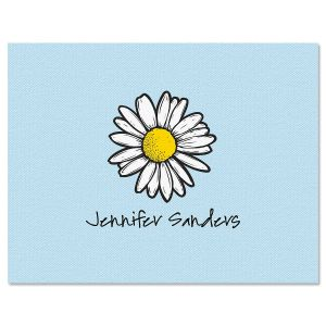 Textile Daisy Note Cards