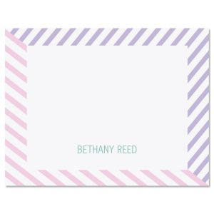 Pastel Lines Note Cards