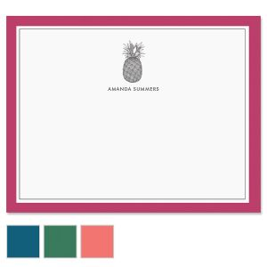 Pineapple Border Note Cards
