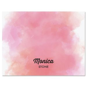 Pink Wash Note Cards