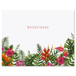 Tropical Foliage Note Cards