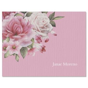 Corner Roses Note Cards
