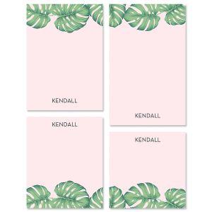 Pink Palms Note Pad Sets
