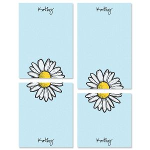 Textile Daisy Note Pad Sets