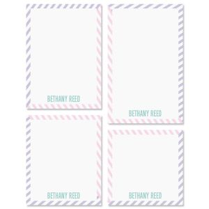 Pastel Lines Note Pad Sets