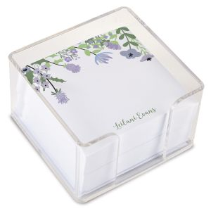 Wildflowers Note Sheets in a Cube