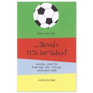 Soccer Stripe Invitation