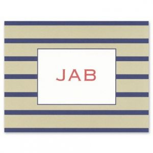 Nautical Stripe Note Card