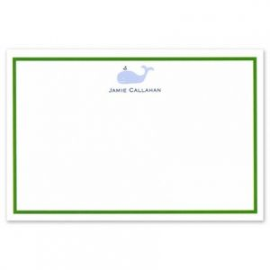 Horizontal Whale Flat Card
