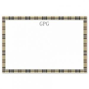 Town Plaid Flat Card