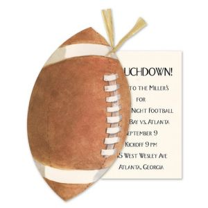 Football & Raffia Invitation