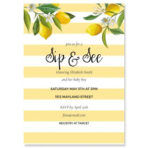 Life and Lemons Shower Invitation