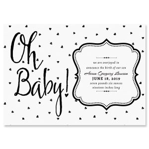 Oh Baby Hearts Birth Announcements