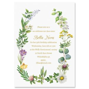 Laurel Botanical Invitations
