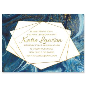Modern Marble Indulgence Invitation