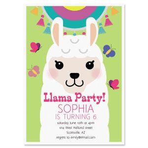 Llama Festival Birthday Invitation