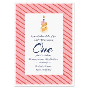 Piece of Cake Birthday Invitation