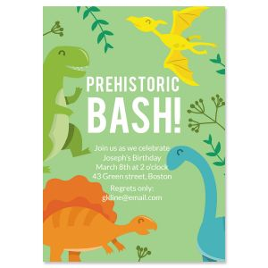 Prehistoric Birthday Invitations