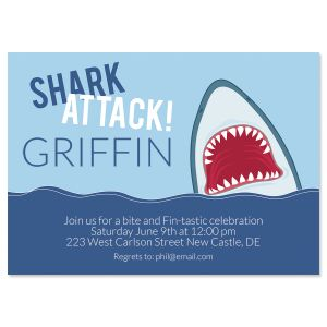 Shark Attack Birthday Invitations