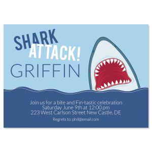 Shark Attack Birthday Invitations