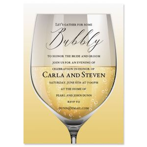 Glass of Bubbly Invitations