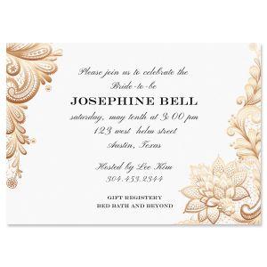 Gold Lace Invitations