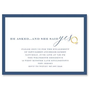 She said yes Engagement Invitations