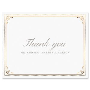 Gold Frame Thank You Cards