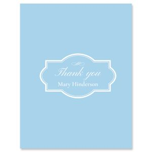 Light Blue Thank You Cards