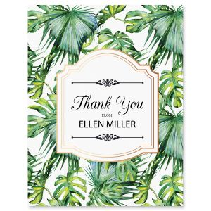 Palm & Gold Thank You Cards
